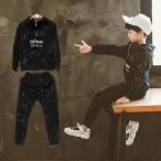 ショッピングジャージ 子供ジャージ 男の子 上下セット スウェット2点セット子供服 秋新作 長袖Tシャツ+パンツ スポーツウェア キッズ  男の子ジュニア