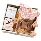 コトハコーヒー 御祝いネズミの出産祝い コトハコーヒーギフト 襟付き女の子用 スタイ baby-gift-mouse-girl-1