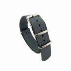 腕時計ベルト 無地 グレー 長さ265mm 幅18mm ウォッチベルト 交換用ベルト 替えベルト 腕時計用ベルト AP-102 メール便OK