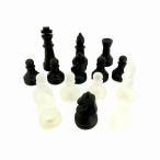 クリスタルチェス 黒 スリガラス 特大 ポーン ナイト ビショップ キング ルーク 駒のみ半端セット 訳あり CP-031 宅配便のみ