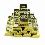 金の延べ棒 ゴールドバー レプリカ 金塊 おもしろ ゴールド 10個セット B 金塊レプリカ フィギュア ディスプレイ 景品 HB-165 DM便OK