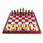 チェス チェスセット チェス盤 駒 ボードゲーム インテリア 木製 アンティーク風木製チェスセット 折り畳み盤 ウッド 木製駒 HB-195 qq宅配便のみpp