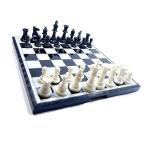 チェス チェスセット マグネット式 チェス盤 駒 ボードゲーム インテリア 豪華 白 黒 折り畳み盤 おしゃれ 37cm 特大 HB-336 宅配便のみ