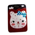 定期入れ パスケース メンズ レディース かわいい カードケース 薄型 赤 レッド ねこ 猫 イラスト ICカード入れ 名刺入れ SA-168 DM便OK