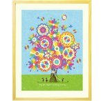 絵画 花 インテリア 壁掛け [幸せの花束 虹色] 額入りL(525×410mm) 玄関 家に飾る絵 風水 リビング 病院 事務所 おしゃれな絵画 アートポスター 人気の絵画