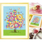 誕生日プレゼント 女性 絵画アート(幸せの花束 虹色/名前入れ-Mサイズ) 30代 40代 20代 20歳 記念 彼女 娘 贈り物