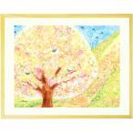 絵画 インテリア 壁掛け 花 (はじまりの日/額入り-Sサイズ・ポエム付) 部屋 リビング 風水 和み 額付き 桜 さくら 壁飾り 風景画の画像