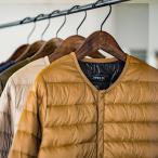 レディース メンズ ダウンジャケット OMNES ユニセックス 高密度ナイロンインナーダウンノーカラージャケット  カジュアル 防寒 重ね着 コンパクト 軽量