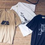 ユニセックス -by RYOJI OBATA×OMNES プリント半袖Tシャツ  リョウジ オバタ コラボ レディース メンズ カジュアル 手書きイラスト