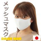 メッシュ マスク 日本製 接触冷感 涼しい ベタつかない 蒸れにくい ポケット 無縫製 立体成型 ニットマスク