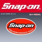 ショッピングOn Snap-on スナップオンツールズ  ステッカーオーバルロゴ(中) SS557A (希少なアメリカ印刷)