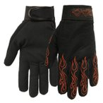Mechanics Gloves with Red Flames