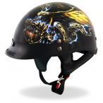 米国ホットレザー イーグル 半ヘルメット ハーレーダビッドソンスタイル