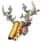 【MIHO UNEXPECTED THINGS】 鹿のオブジェ/ウォールデコ Big Deer Mix - Parade (組立式/Lサイズ)