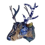 【MIHO UNEXPECTED THINGS】  鹿のオブジェ/ウォールデコ Trophy Deer - Breaking News (組立式/Mサイズ)