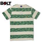 ライトニングボルト Tシャツ ボーダー ポケット Lightning BOLT ポルトガル製 グリーン