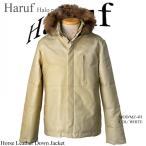ダウンジャケット 大きいサイズ メンズ 本革 ライダース ジャケット  レザーコート 防寒 バイク 白 ホワイト フード付き  M L LL 3L 4L 5L mz4hwh