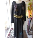 Yahoo!Costume Shop HARUIエジプト製  ゆったり サラサラ ナイロン ガラベーヤ  黒 (11)