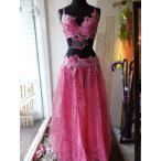 最新作 カスケード ビーズ 衣装 ブラ ベルト 2点セット ピンク
