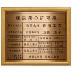 建設業の許可票【本物の金属製・銅板ブロンズ】木地額入り・板面は最高級・銅板ブロンズ/建設業の許可票 建設業許可票 事務所用・標識・看板