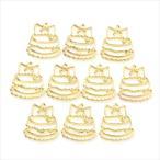 レジン空枠 ゴールド 10枚セット tg33 金/デコレーションケーキ/フレーム チャーム ハンドメイド パーツ