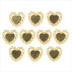 ゴールド ミール皿 10枚セット/華状 花 ハート 金 g29/セッティング レジン アクセサリーパーツ