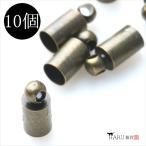 カツラ アンティーク 4mm 10個セット 金古美/アクセサリーパーツ 素材 金具
