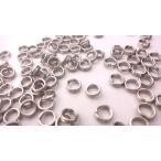ロジウム 二重丸カン 4mm 約90個 2重/銀 マルカン/ハンドメイド アクセサリーパーツ 金具