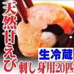 Shrimp - 山形県産 天然 甘エビ カラむき20匹 生冷蔵 刺身 甘えび 甘海老 鮮魚 海鮮丼 刺し身 盛り合わせ セット