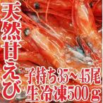 山形県産 天然子持ち 甘エビ 500g35〜45匹 生冷凍 刺身 業務用 甘えび 甘海老 鮮魚 海鮮丼 刺し身 盛り合わせ セット