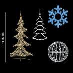 クリスマス ツリー LEDツリー&オーナメント セット 175cm 中サイズ クリスタルツリーとイルミネーション一式 送料無料