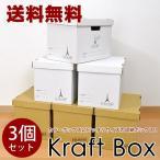 送料無料 カラーボックス用ボックスタイプ クラフトボックス 3個セット