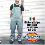 ショッピングつなぎ オーバーオール Dickies ディッキーズ 83-297 83297 STRIPE ヒッコリー ストライプ ワークショーツ ディッキ族 つなぎ 作業着 おしゃれ