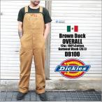 オーバーオール Dickies ディッキーズ DB100 DB-100 Brown-Duck ブラウン ダック ストライプ ワークショーツ ディッキ族 つなぎ 作業着