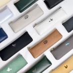 スリムペンケース シンプル 筆箱 ワンポイント 箔押し 中学生 高校生 大人 通勤 通学 小さめ コンパクト 軽量 日本製 オフィス かわいい 動物 合皮