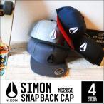 ニクソン キャップ NIXON ニクソン C2058 SIMON 帽子 アジャスタブル スナップバック SNAPBACK COTTON 綿 刺繍 ロゴ