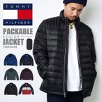 ダウンジャケット コンパクト TOMMY HILFIGER トミー ヒルフィガー パッカブル 持ち運び メンズ 防寒 158an496 軽量 ロゴ 大きいサイズ アウター