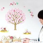 ウォールステッカー  楽しむ和の行事 大きな桜咲く  A2サイズ 日本製