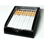 卓上型シガレットケース アクリル×ブラック タバコケース 葉巻 小物入れ インテリアに 黒 メンズ/レディース
