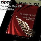 ショッピングzippo ZIPPO 限定1000個 エンジェルウィング ジッポ 最新モデル 天使の羽 ワイン レッド シリアルNO刻印 金羽 エンジェルウイング