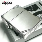 ZIPPO ライター ジッポ 1935 復刻レプリカ シルバー 燻し 3面アラベスク ダイアゴナルライン 3バレル 唐草 彫刻 アンティーク 角型 メンズ 送料無料