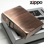 ショッピングzippo ZIPPO ライター ジッポ 1935復刻レプリカ カッパー 銅古美 3面アラベスク ダイアゴナルライン 唐草 彫刻 アンティーク 角型 3バレル メンズ 送料無料