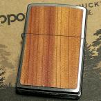 ZIPPO ライター クロームサテーナ WOODCHUCK ジッポ 木目 シルバー シンプル 両面ウッド貼り おしゃれ メンズ レディース ギフト プレゼント