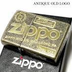 ZIPPO ライター アンティーク オールドロゴ ジッポ ブラスバレル 古美ゴールド かっこいい おしゃれ ジッポーロゴ メンズ レディース ギフト プレゼント