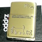 ZIPPO ライター 猫 ジッポ 真鍮 いぶし仕上げ おしゃれ メンズ ゴールド 可愛い キャットシリーズ ギフト プレゼント
