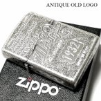 ZIPPO ライター アンティークオールドロゴ ジッポ ニッケルバレル 古美シルバー かっこいい おしゃれ ジッポーロゴ メンズ ギフト プレゼント