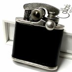 オイルライター Colibri コリブリ 本革巻き 黒 ブラック アンティークシルバー レトロ ニッケルバレル フリント ライター かっこいい ブランド おしゃれ ギフト