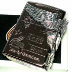 ZIPPO ライター ハーレーダビッドソン ジッポ チョコブラウン チタン加工 3面大型メタル イーグル HARLEY-DAVIDSON 日本国内限定モデル かっこいい ギフト
