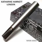 電子ガスライター キャサリンハムネット ラインストーン入り 可愛い スリムライター ダークグレー レディース 女性 KATHARINE HAMNETT Xmas 女性 ギフト