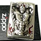 ZIPPO ライター キン肉マン 40周年記念 ジッポ 限定 シルバー 銀イブシ かっこいい プレミアムモデル ゆでたまご正規品 重厚メタル メンズ アニメ ギフト
